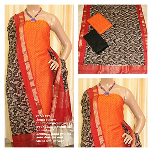South Cotton Handloom Jacquard Top (no lining required) teamed with beautiful hand...