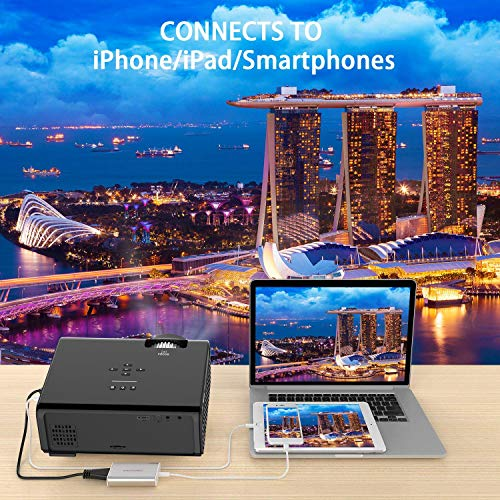Mini Projector  LESHP LED Mini Projectors connect to PC Laptop USB for Movie TV show Karaoke Video Game