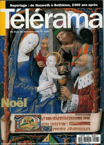 Télérama - n°2293 - 22/12/1993 - Noël / De Nazareth à Béthléem, 2000 ans après