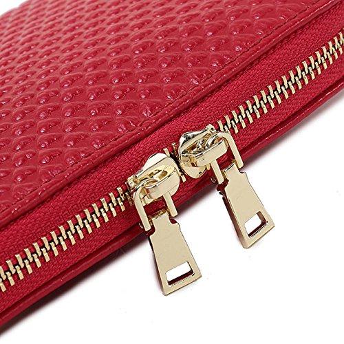 Sacchetto di spalla di cuoio della borsa di cuoio della donna sacchetto di spalla della catena di stile di amore Pink