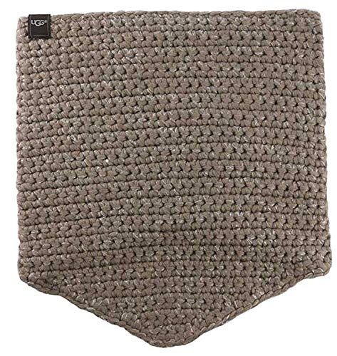UGG Women's Crochet Snood with Lurex & Sequins Stormy Grey Heather Scarf One Size