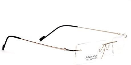 Redex Rimless Rectangle Unisex Spectacle(286|Silver)