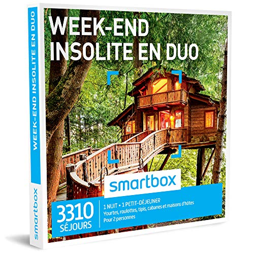 SMARTBOX - Week-end insolite en duo - Coffret cadeau couple...