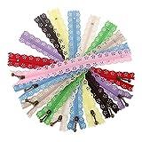 10020cm DIY Nylon Coil Spitze Reißverschluss Bud Lockvogel für Tailor Kanalisation Craft Tasche Nähen Werkzeug zufällige Farbe