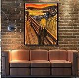 Hohe Qualität handbemalt Landschaft Moderne Munch von CRY Ölgemälde Leinwand Wohnzimmer Wanddekoration Kunst Arbeit Kunst, canvas, 40x64inch(100x160cm)