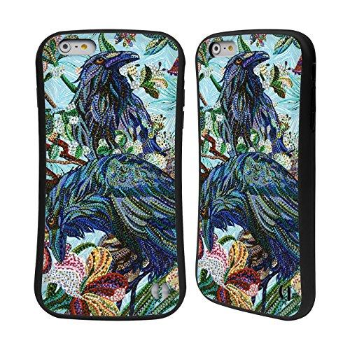 Ufficiale Erika Pochybova Ghiandaia Blu Uccelli Case Ibrida per Apple iPhone 7 / iPhone 8 Corvi
