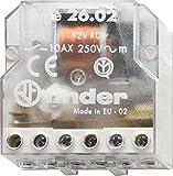 Finder 260682300000 - Telerruptor/conmutador encastrable 3 secuencias 2 NA - AC (50Hz) - 230 V45, 4,5 x 2,2 x 4,7 cm transparente
