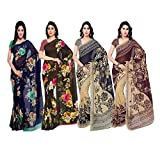 Anand Sarees Synthetic Saree with Blouse Piece (Pack of 4) (Pack_Of_4_1052_1_1052_2_1086_2_1086_4_Multicolor_Free Size_multicoloured_Free size)