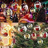 20pz-10cm Palline di Natale Acrilico per Decorare L'Albero di Natale Palline Ornamento Trasparente Gadget Natale Compleanno Bambini Pensierino Matrimonio (20pz-10cm)