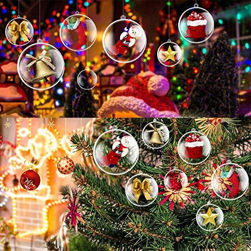30pz-6cm addobbi albero di natale acrilico per decorare l'albero di nataleornamento trasparente gadget natale compleanno bambini pensierino matrimonio