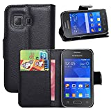 Nadakin Samsung Galaxy Young 2/G130 Calidad Premium Cartera de Cuero con Carcasa de Teléfono Flip...