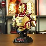 Decddae Marvel Iron Man Vinyl Half-Length Busto Statua MK43MK42MK7 Modello Luminoso Ornamenti Giocattolo Alto 23 Cm MK42