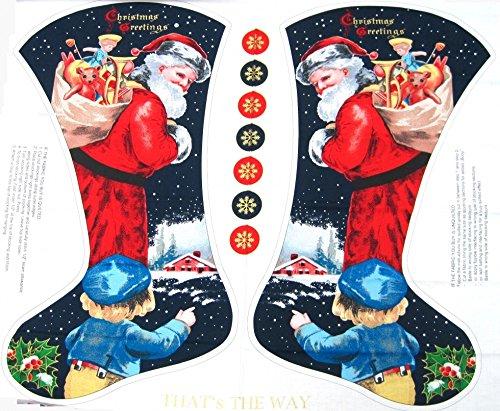 Santa Strümpfe Weihnachten Stoff Panel-Pro Panel -