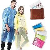 Raincard Disposable Raincoat, Unisex Reusable Rain Poncho, Rain Card, Rain Coat for Men, Women, Kids (Multicolor, Free…
