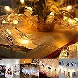 Elegante Mädchen Herz Clip Licht LED Batterie Box Licht String Romantische Hochzeit Licht USB Foto Clip Licht String (5 PACK)