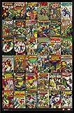 Marvel Comics Poster et Cadre (Plastique) - Classic Comic Covers (91 x 61cm)