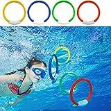 TianranRT Gioca a giochi d'acqua Novità Anello di immersione Piscina subacquea Giocattolo Nuoto/Immersione Formazione Divertimento subacqueo