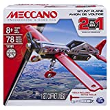 Meccano 2-in-1 Plane Juego de construcción de avión de combate 78pieza(s) - Juegos de construcción (Juego de construcción de avión de combate, 8 año(s), 78 pieza(s), Negro, Rojo, Plata, China, 190 g)