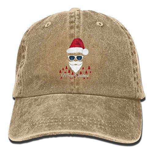Justierbare Baseballmützen Weihnachtsmann mit Sonnenbrille Cowboy Style Trucker Cap