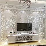 Tv - Hintergrund Tapeten Europäischen Stil Einfachheit Modernen Luxus Aus Tapete 3D Dreidimensionale Schlafzimmer Wohnzimmer Hintergrund Wall - Tapete Silber - Grau Wallpaper