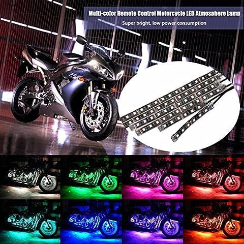 Andux Zone Motorcycle Atmosphère Lampe Multi-couleur LED Télécommande Résistance à l'eau Glow Light DPQFD-01