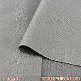 YSHIELD Abschirmstoff SILVER-ELASTIC | HF+NF | Breite 155 cm | 1 Laufmeter