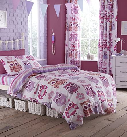 Catherine Lansfield Eule Single Size, rose, Double Quilt (Rosen Quilt Muster)