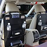 #2: AllExtreme PU Leather Seat Back Multi Pocket Organizer and iPad Mini Holder (Black)
