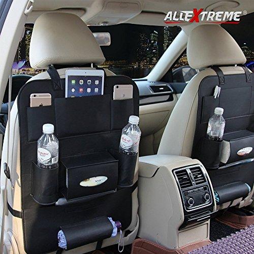AllExtreme PU Leather Seat Back Multi Pocket Organizer and iPad Mini Holder...