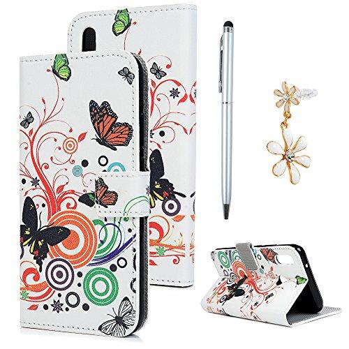 Huawei P20 Lite Hülle Case Dielianhua Muster Kunstleder PU Leder Hülle Wallet Tasche Handyhülle Soft TPU Innere Schutzhülle Klapphülle Schale Bookstyle Ständer Kartenfach Magnetverschluss Brieftasche