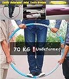 Fitness Yoga Hula-Hoop Wellen gewichtet Galvanisiertes Stahlrohr Einstellbares Gewicht Taille abnehmen Trainingsausrüstung Übung Für Gewichtsverlust Perfekter Körper 6-segmentiert Schaum gepolstert