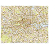 London Premier 2014 Wall Map: Laminated with Gloss finish (122 x 97cm)