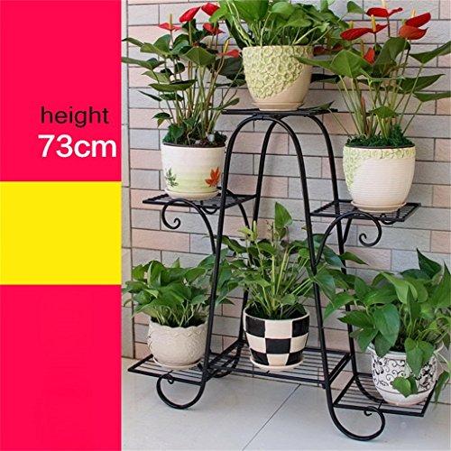 Europäische Stil Einfache Metall Blume Racks Innen-und Außenbereich Wohnzimmer Balkon 6 Ebenen Blumen Regal Montage Blumen Racks ( farbe : #2 , größe : S )