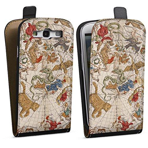 DeinDesign Tasche kompatibel mit Samsung Galaxy S3 Flip Case Hülle Sternenkarte Karte Sternen Map -