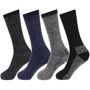 new 4 pairs mens arctic comfort long wool mix thermal socks high tog rating uk 6-11 eur 39-45