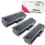 AQINK 3-Pack D111L MLT-D111S M2022 Compatible Toner Cartridges Replacement for Samsung Xpress SL-M2020 M2020W M2021...