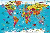 #6: Collins Children's World Wall Laminated Map