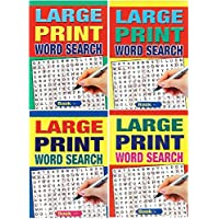 WF Graham Set of 4 Large Print A4 Size 74 Page Word Search Puzzle Books