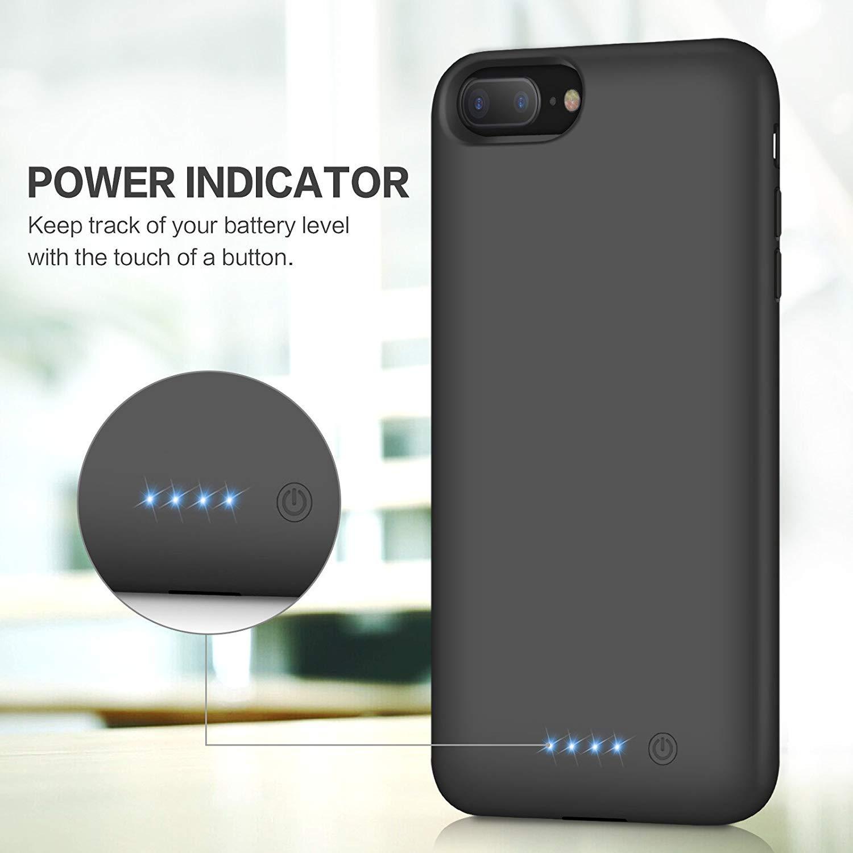 71e318c42ba Funda Batería para iPhone 7 Plus/8 Plus/6 Plus/6S Plus, Feob Funda Cargador  8500mAh Carcasa Batería Externa Recargable Cargador Portatil Power Bank ...