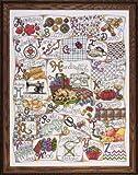 Design Works Stitching ABC - Juego de Punto de Cruz (con Mensaje en inglés), diseño del abecedario ilustrado en inglés