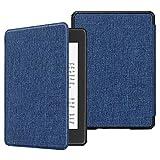 Fintie Hülle für Kindle Paperwhite (10. Generation - 2018) - Die dünnste und leichteste Schutzhülle Tasche mit Auto Sleep/Wake Funktion für Amazon Kindle Paperwhite eReader, Stoff dunkelblau