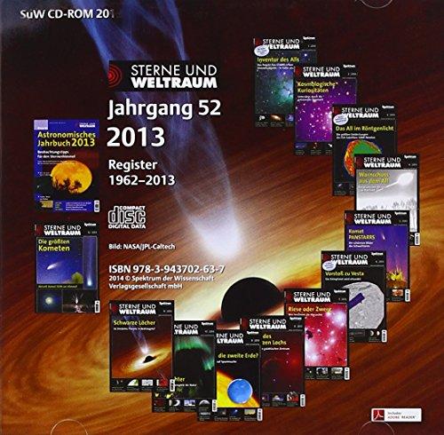 Sterne und Weltraum 2013, CD-ROM Jahrgang 52. Register 1962 - 2013 -