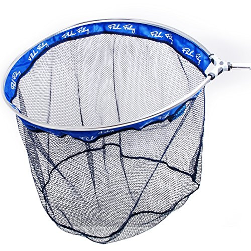 Fladen Angeln Fisch Freundlicher Kescher Kopf (55cm x 45cm x 40cm)-mit dunkelblau PE Mesh [32-5545]