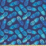 ABAKUHAUS Pastell Stoff als Meterware, Tropisches