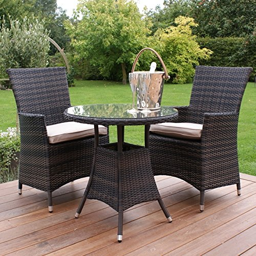 San Diego Rattan Garden Furniture 2 Seat Bistro Set Garden Rattan Furniture