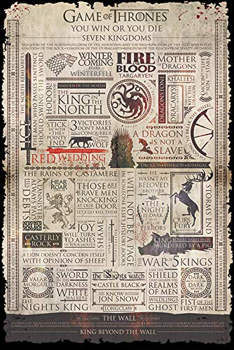 Grupo Erik Editores Poster Game Of Thrones (Infographic)