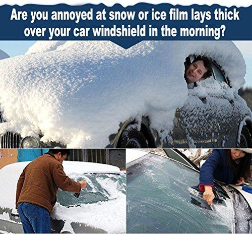 Autoscheibenabdeckung Winterabdeckung Eisschutz Frostabdeckung Schneeabdeckung Sonnenschutz Sonnenblende Frontscheibe, Schneeschutz Windschutzscheiben Abdeckung Schnee Wind Frost optimal für Winter