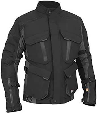 Stilvolle Motorradjacke textilien Motorrad Jacke Cordura Motorcycle Jacket, XL, Black