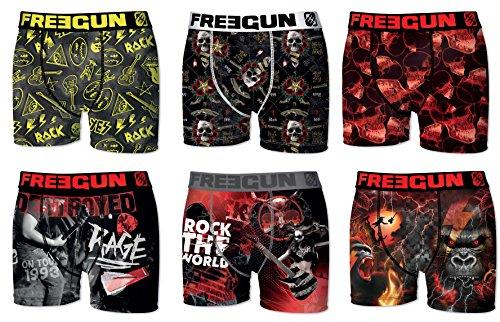 Freegun. Herren Boxershort Pack de 6