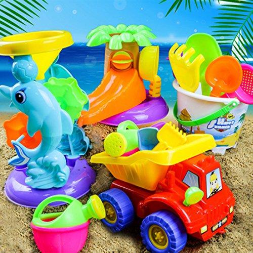 Strandspielzeug Kinder, CT-Tribe 20 Teiliges Set Sand Spielset Sand Toy für Kinder, Sandkasten, Schaufel, Eimer,Rechen, Sandformen